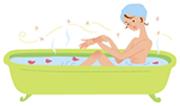 半身浴はリラックス効果もありオススメ!アロマテラピーも併用すると更に効果的ですよ